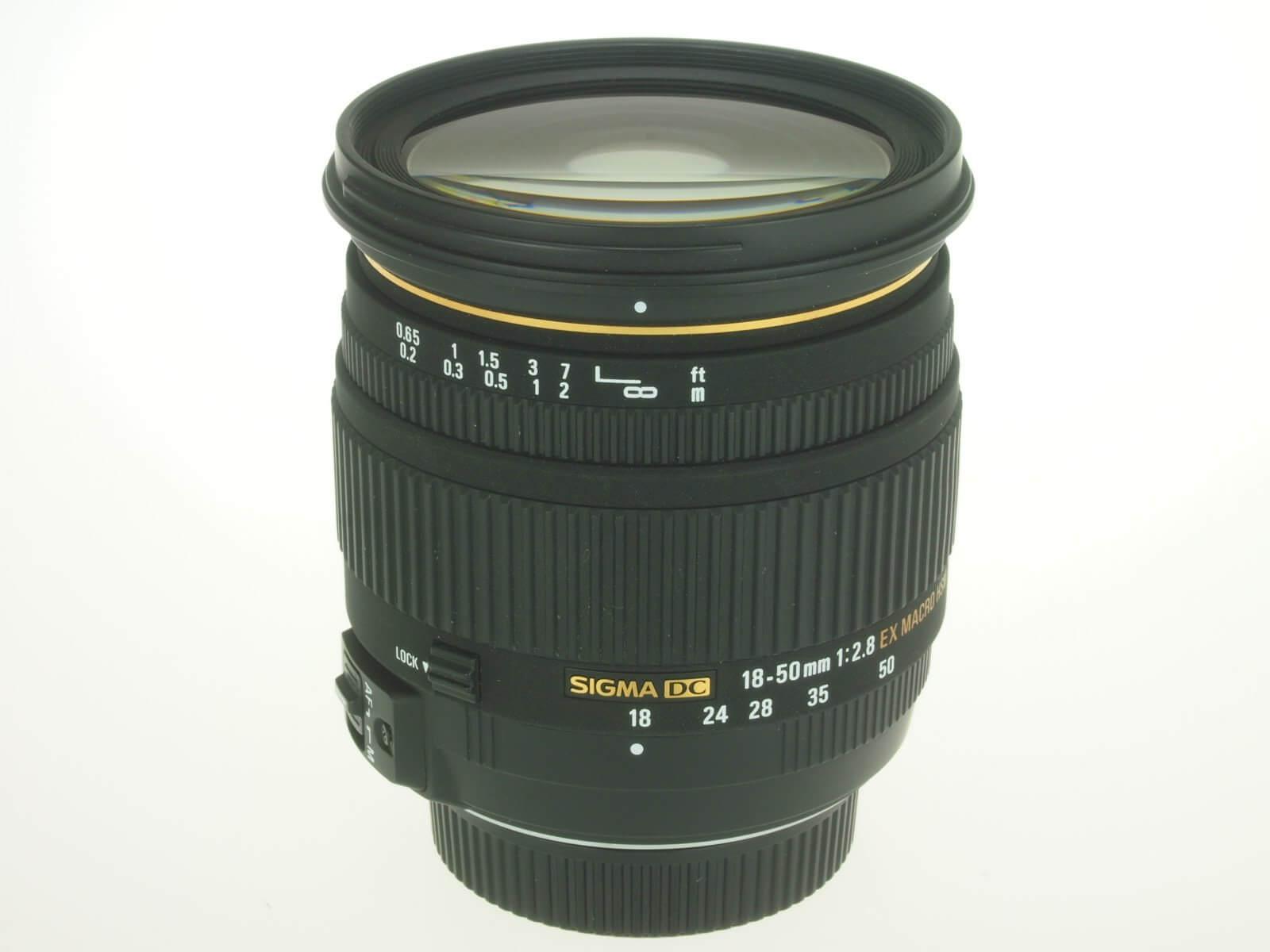 Sigma 18-50mm f2.8 DC EX lens, Nikon mount, mint condition!