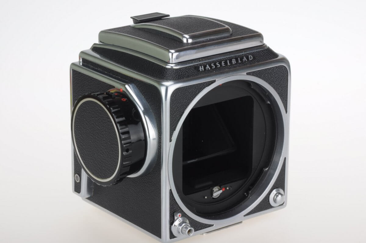 Hasselblad 500CM body, late, with late waist-level finder, almost mint