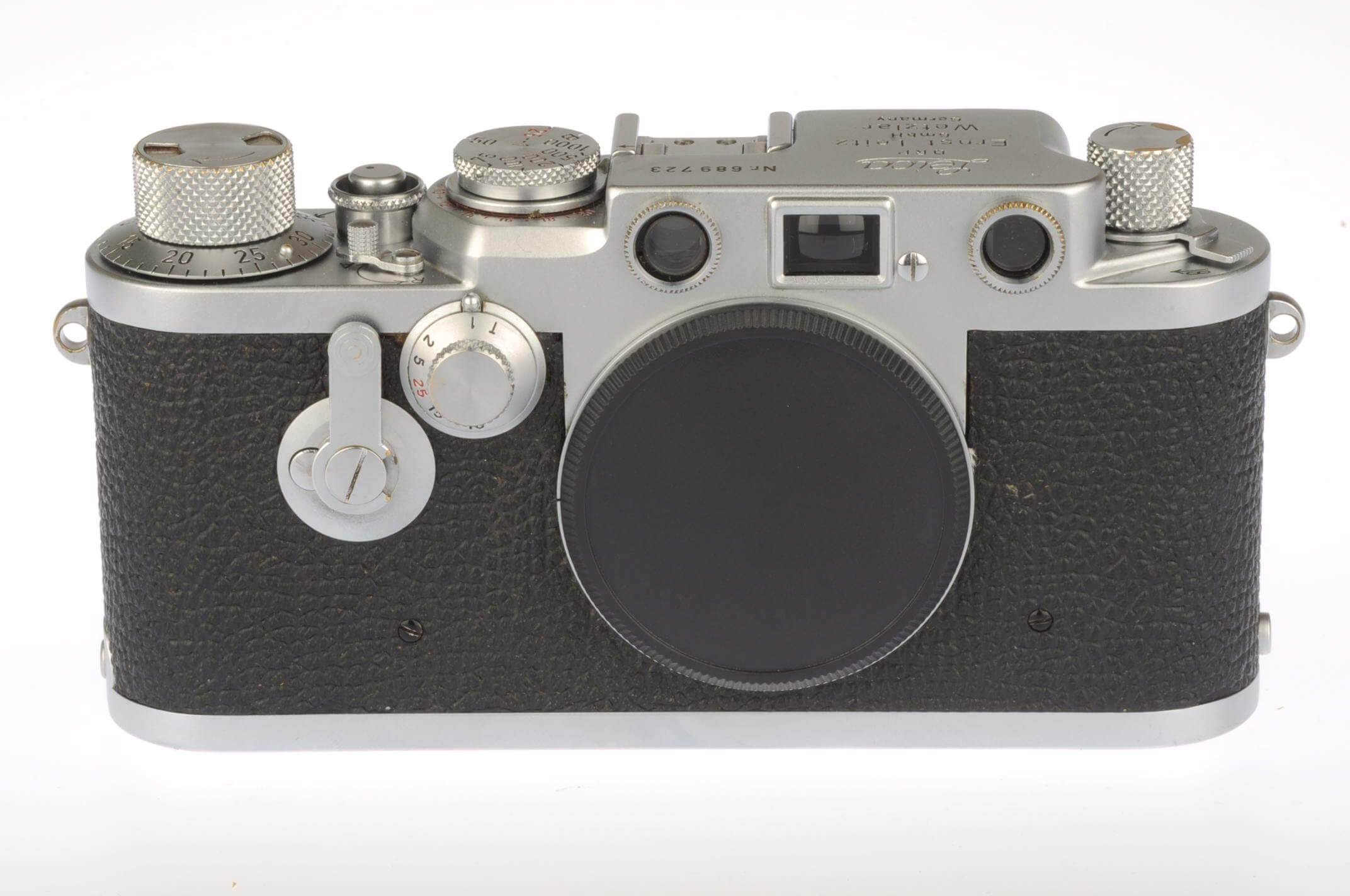 Leica IIIf body, red dial with delayed action, fully serviced