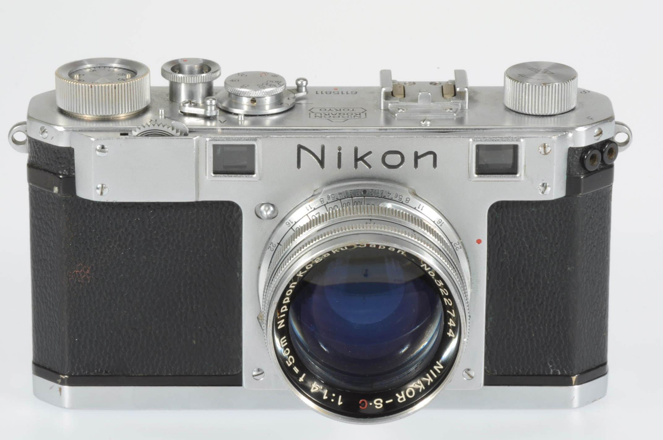 Nikon S rangefinder body with 5cm f1.4 lens, rare
