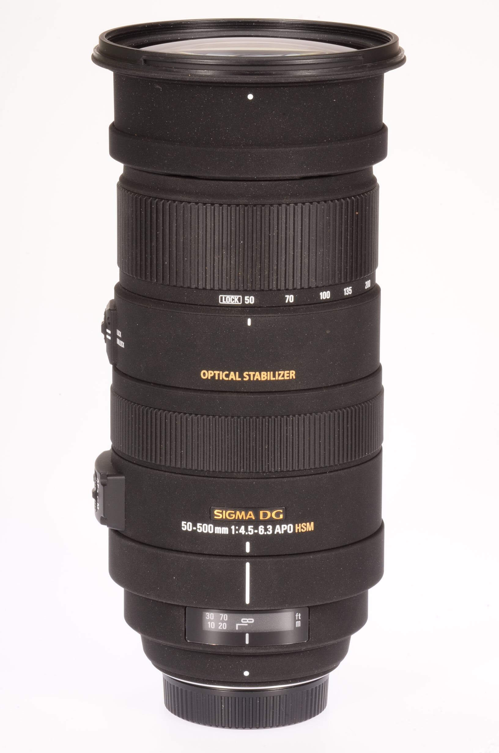 Sigma 50-500mm f4.5-6.3 DG APO OS lens, Nikon mount, virtually mint