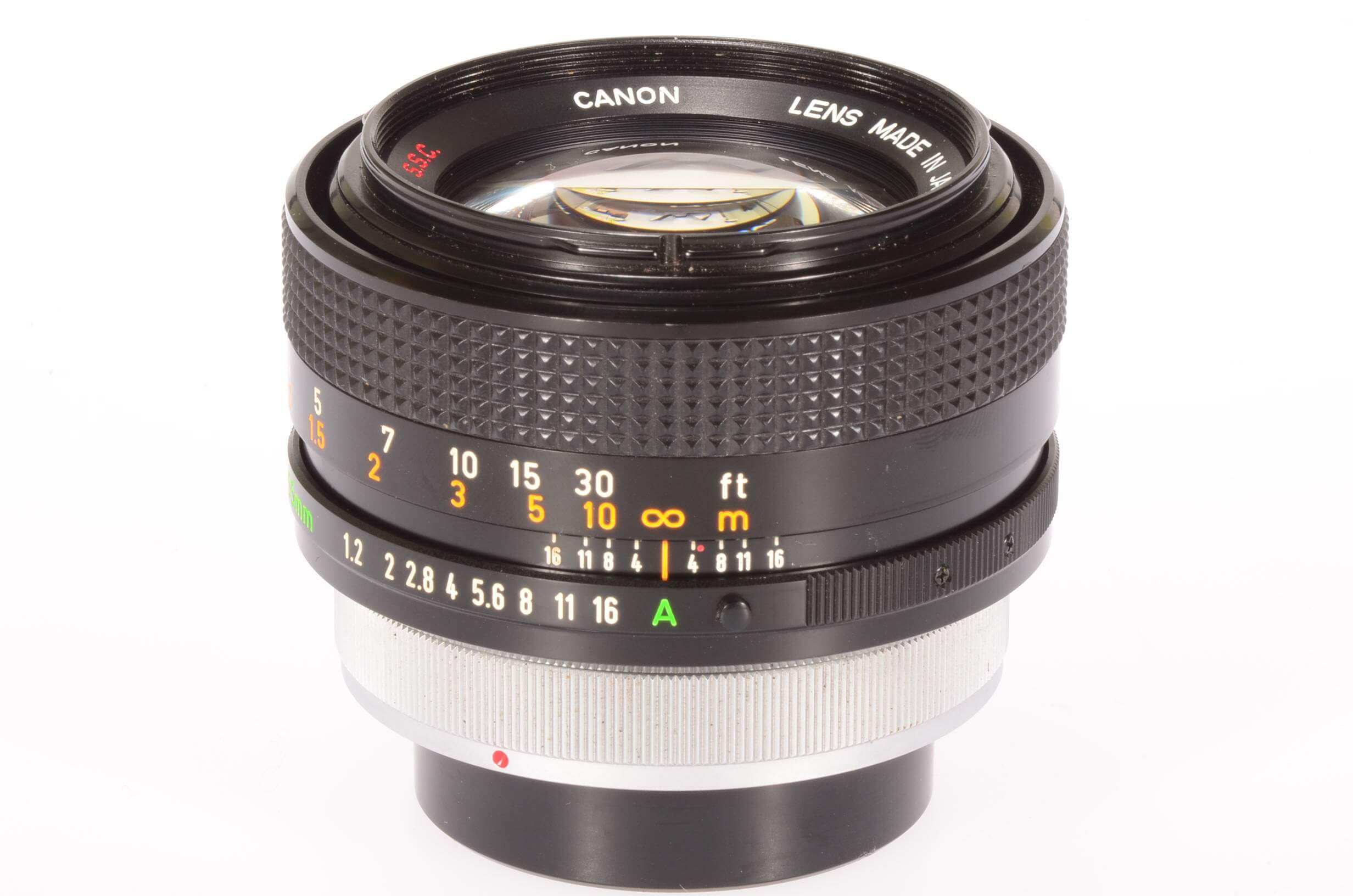 Canon 55mm f1.2 SSC lens, manual focus breechlock mount, stunning condition!