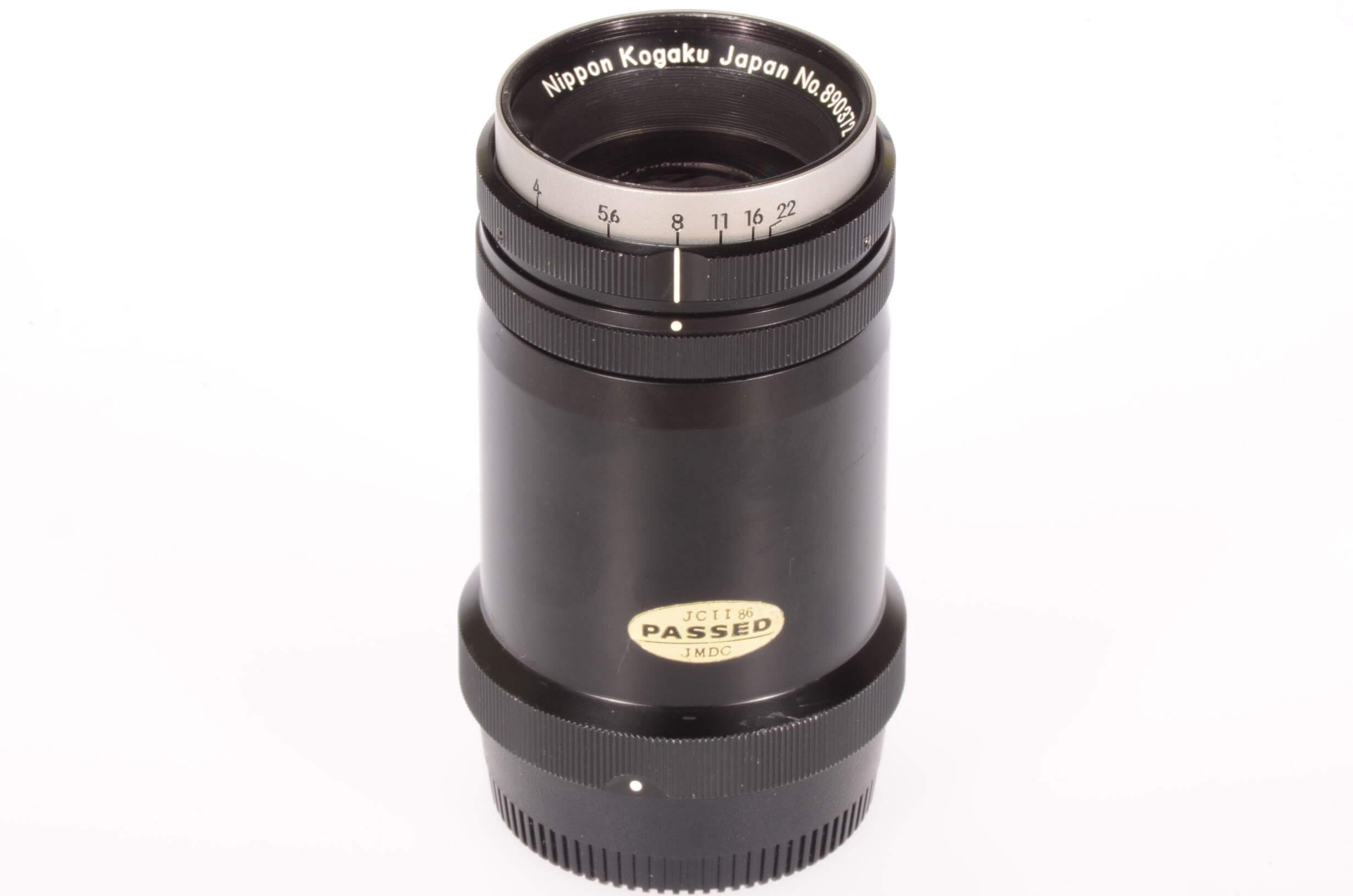 Nikon 135mm f4 Nikkor bellows lens, long mount, rare, excellent condition!