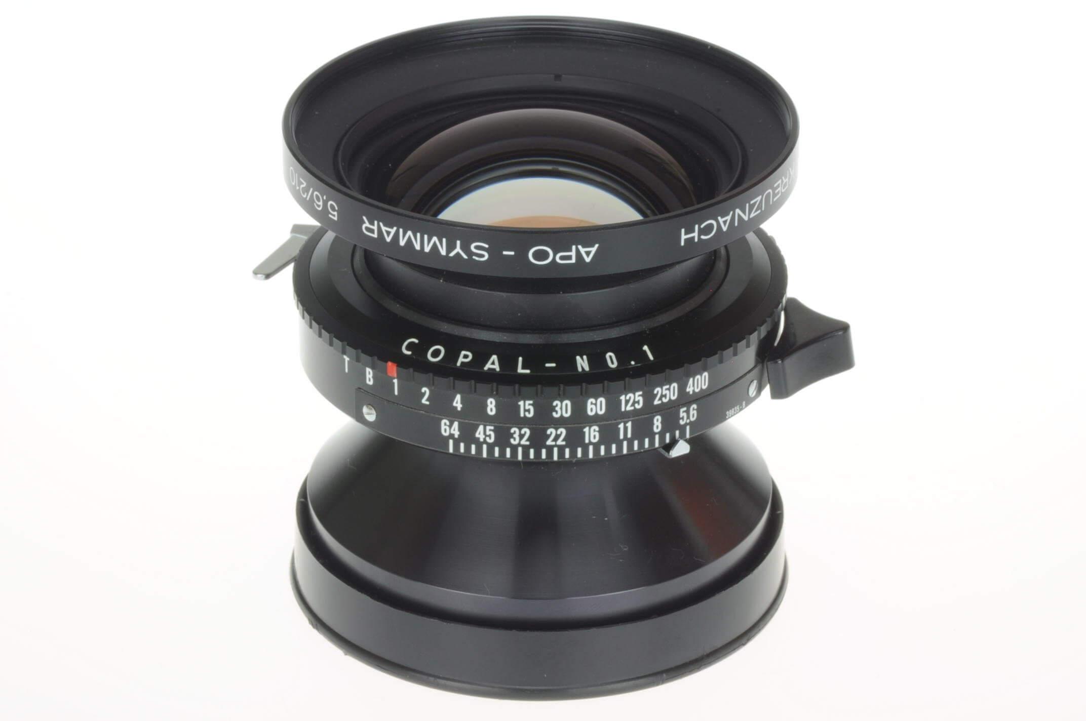Schneider 210mm f5.6 Apo Symmar lens in Copal 1 shutter Mint!