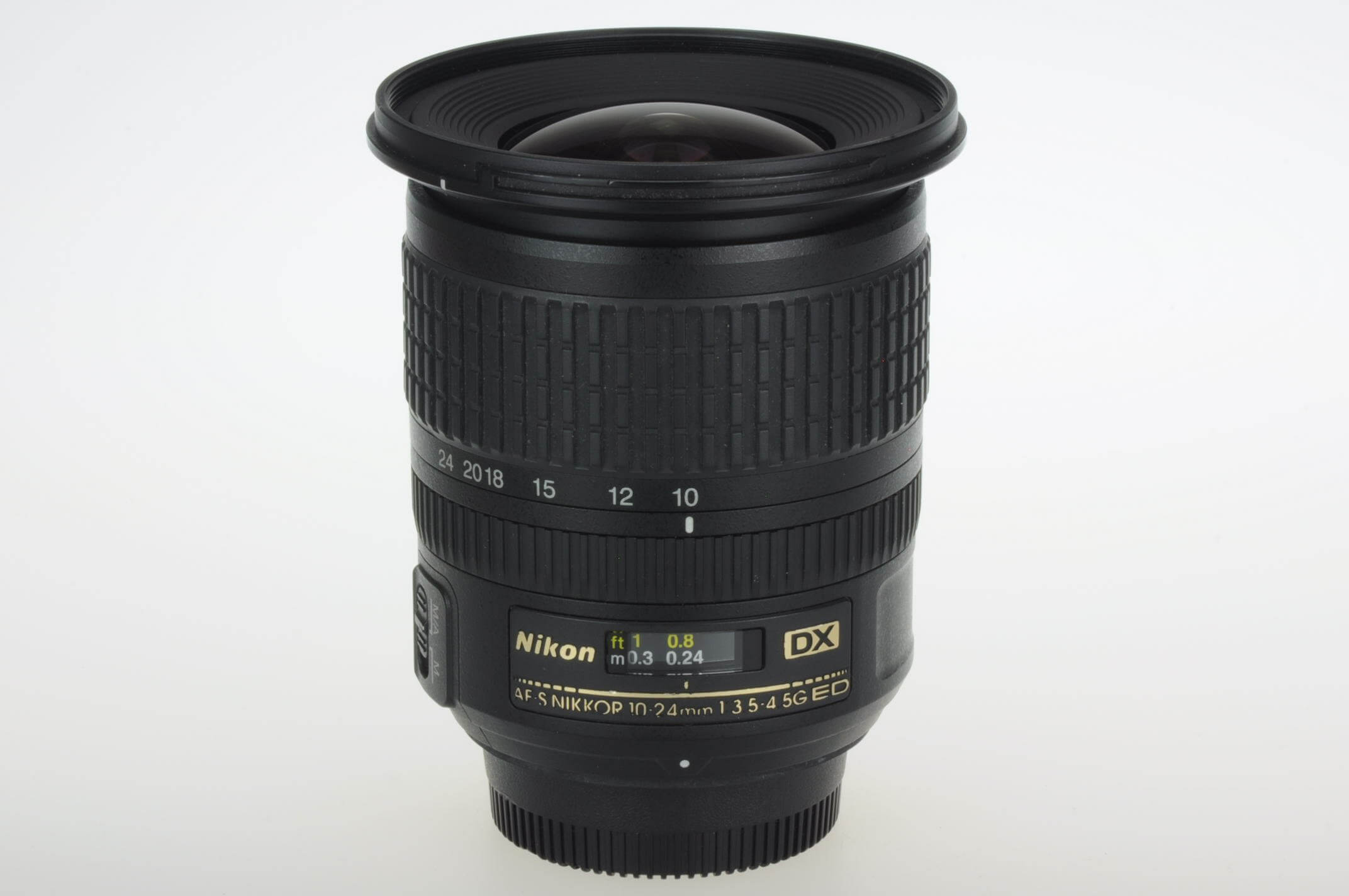 Nikon 10-24mm f3.5-4.5 AF-S DX G, boxed with hood and case