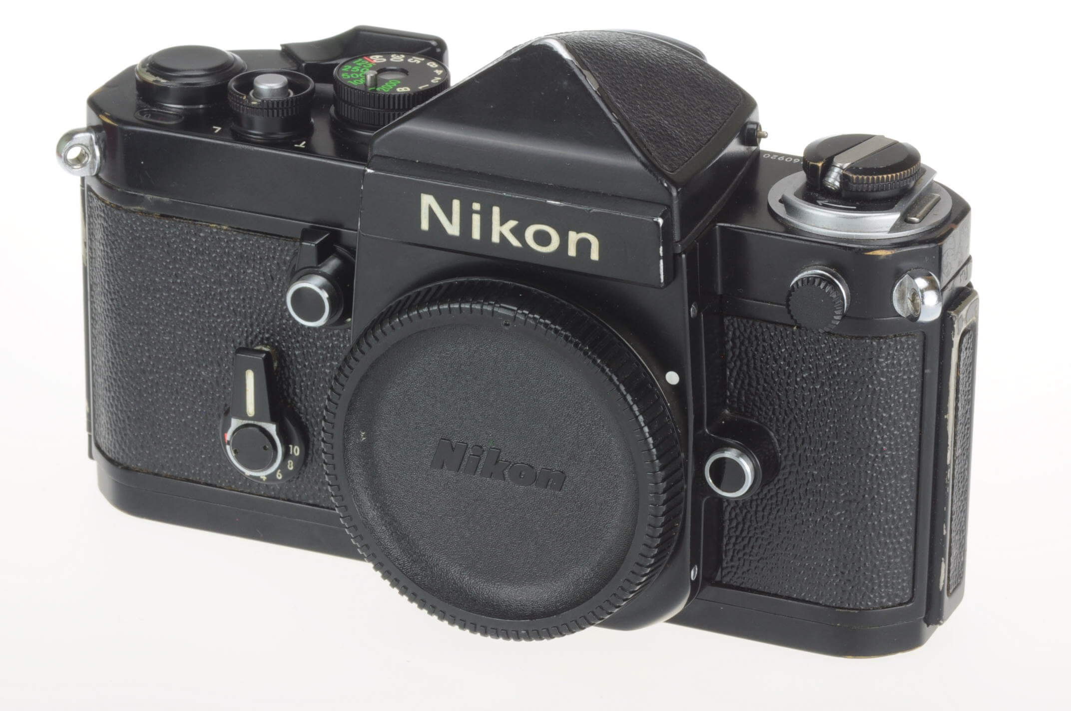 Nikon F2 body with DE1 finder, black, excellent 'user'!