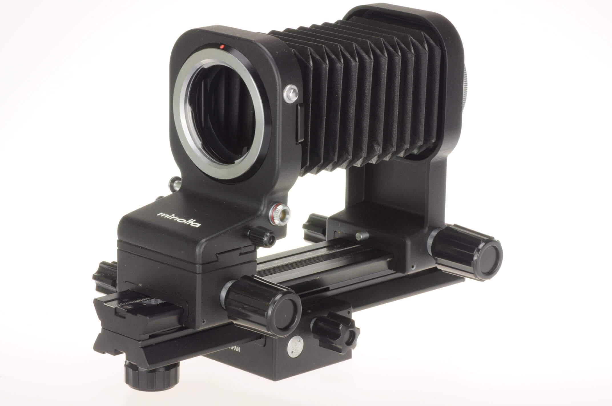 Minolta bellows III with focusing rail, superb condition!