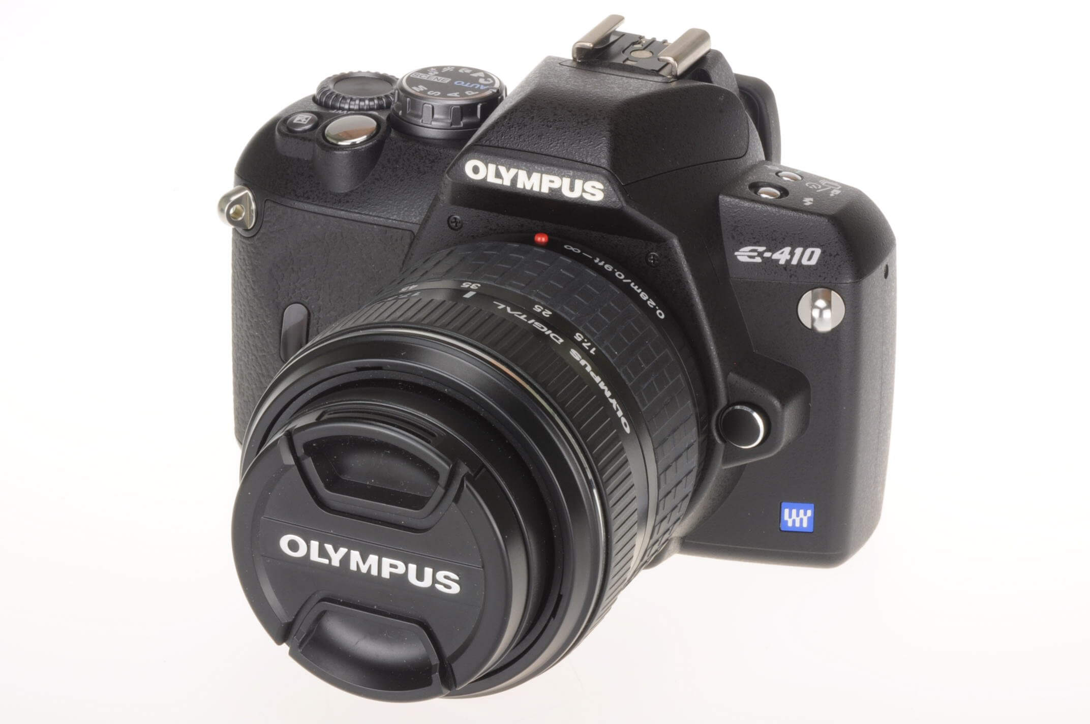 Olympus E410 with 17.5-45mm lens, only 768 actuations!