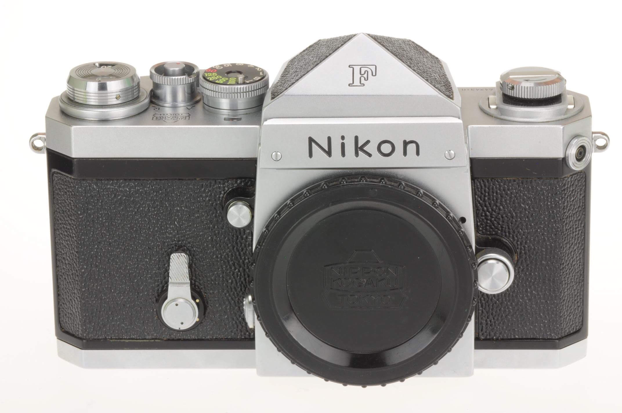 Nikon F body with plain head, early, stunning condition!
