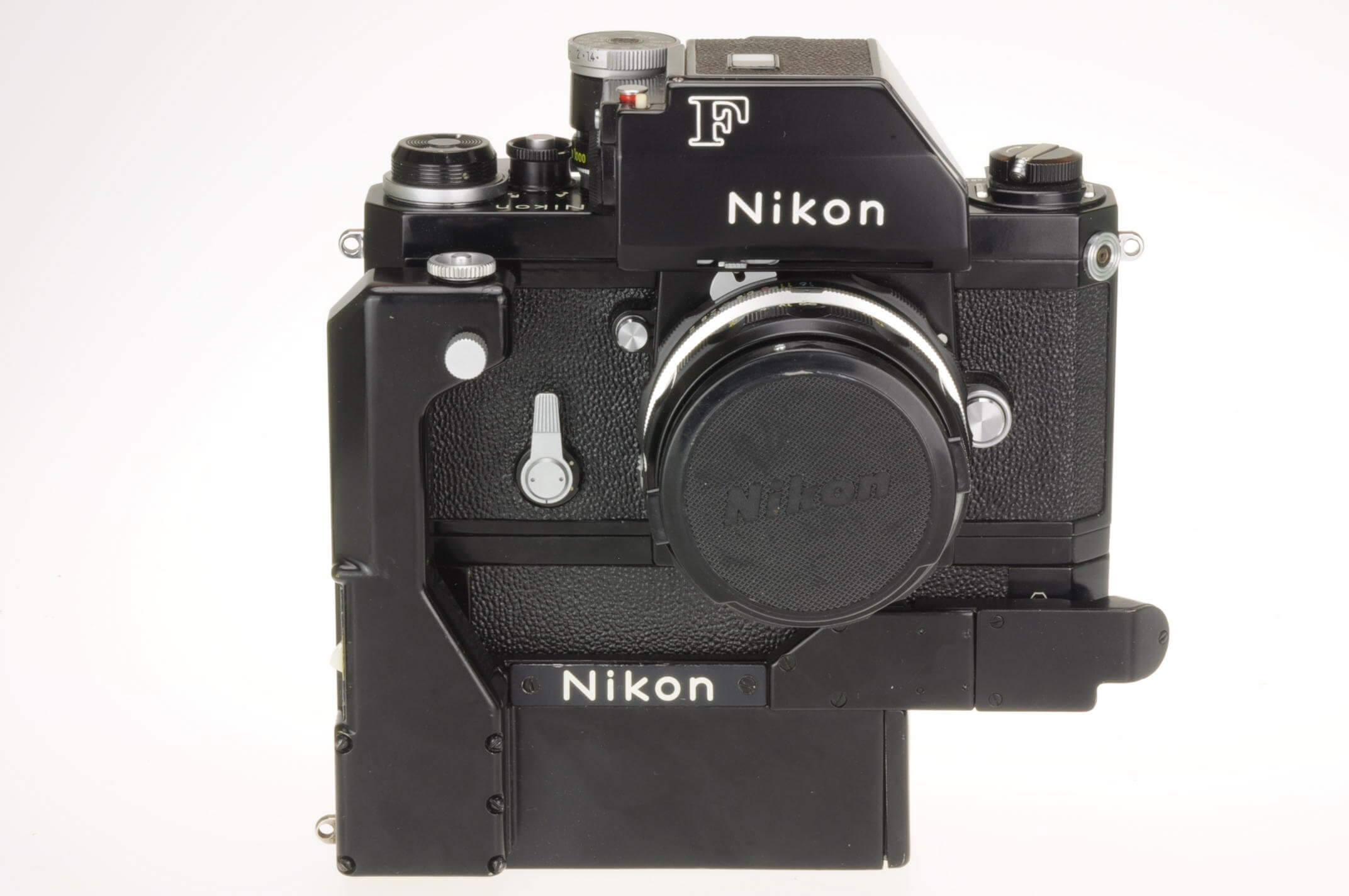 Nikon F body with F36 motor drive, metered prism and 50mm lens, excellent condition