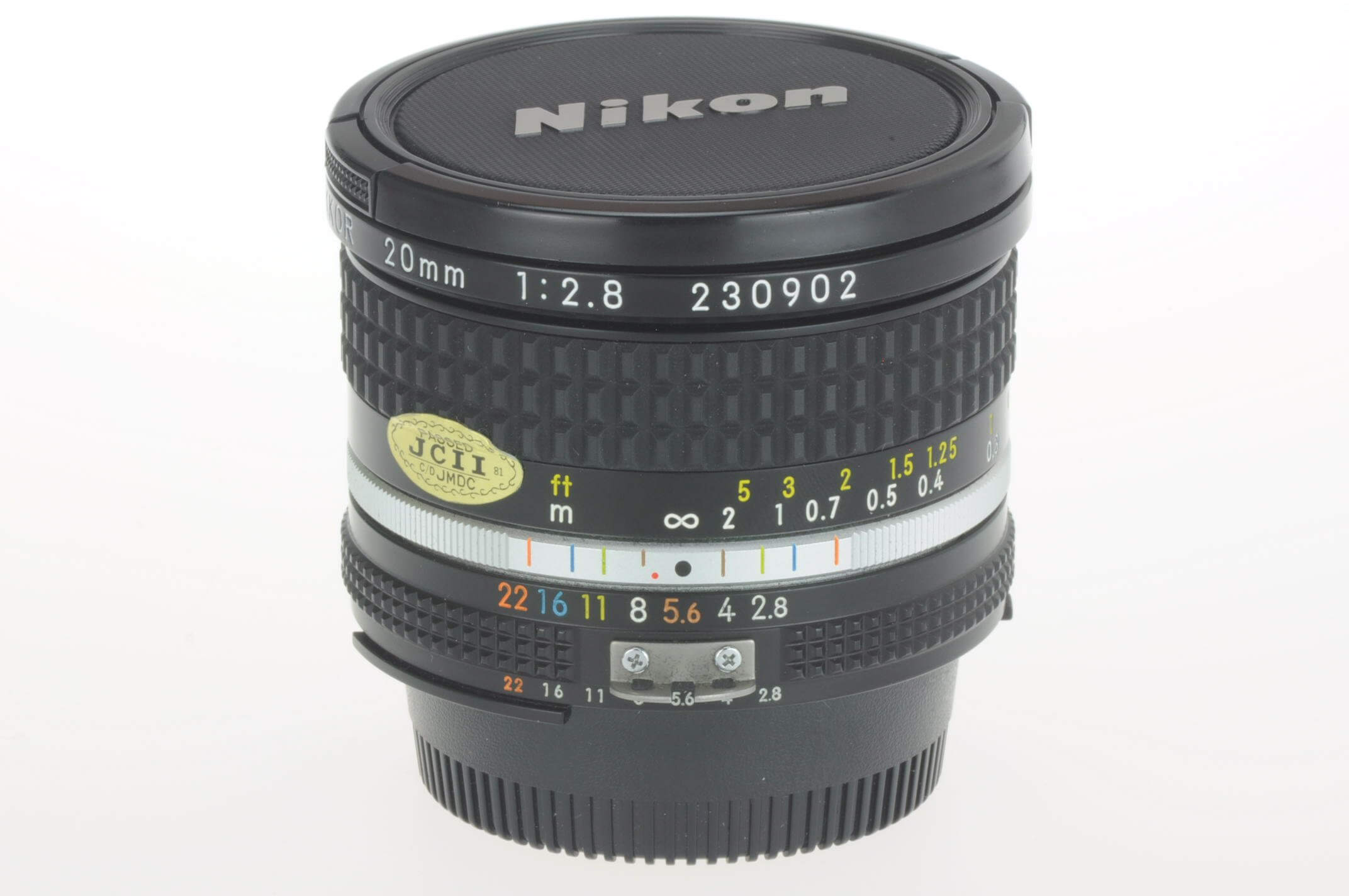 Nikon 20mm f2.8 Nikkor AIS lens, gorgeous but a very slight coating mark on rear!