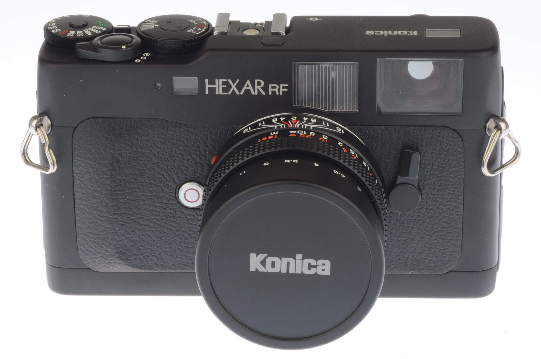 Konica Hexar RF with 50mm f2 lens and flash in presentation box