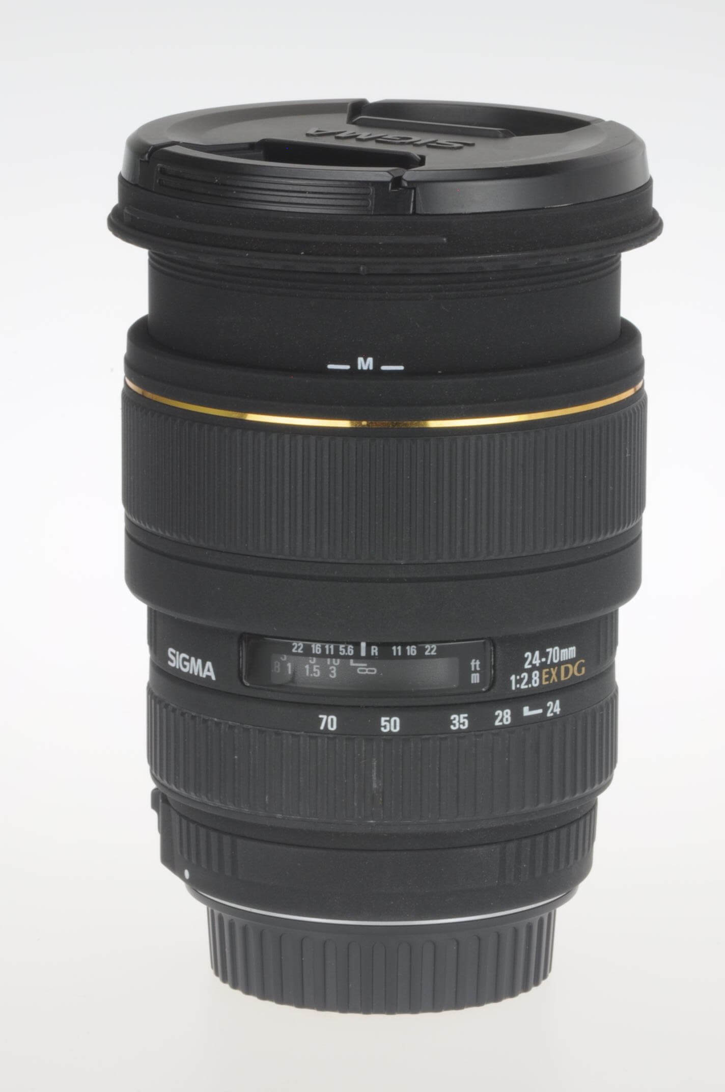 Sigma 24-70mm f2.8 EX DG lens, Canon EOS fitting