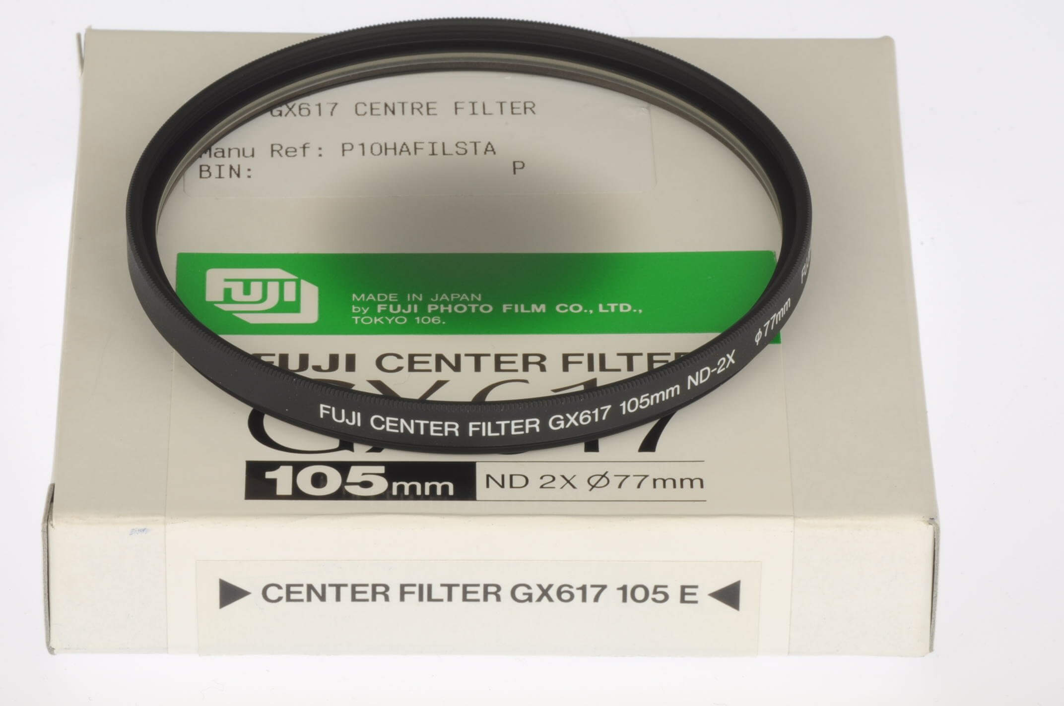Fuji GX617 centre filter for 105mm lens, boxed and unused.