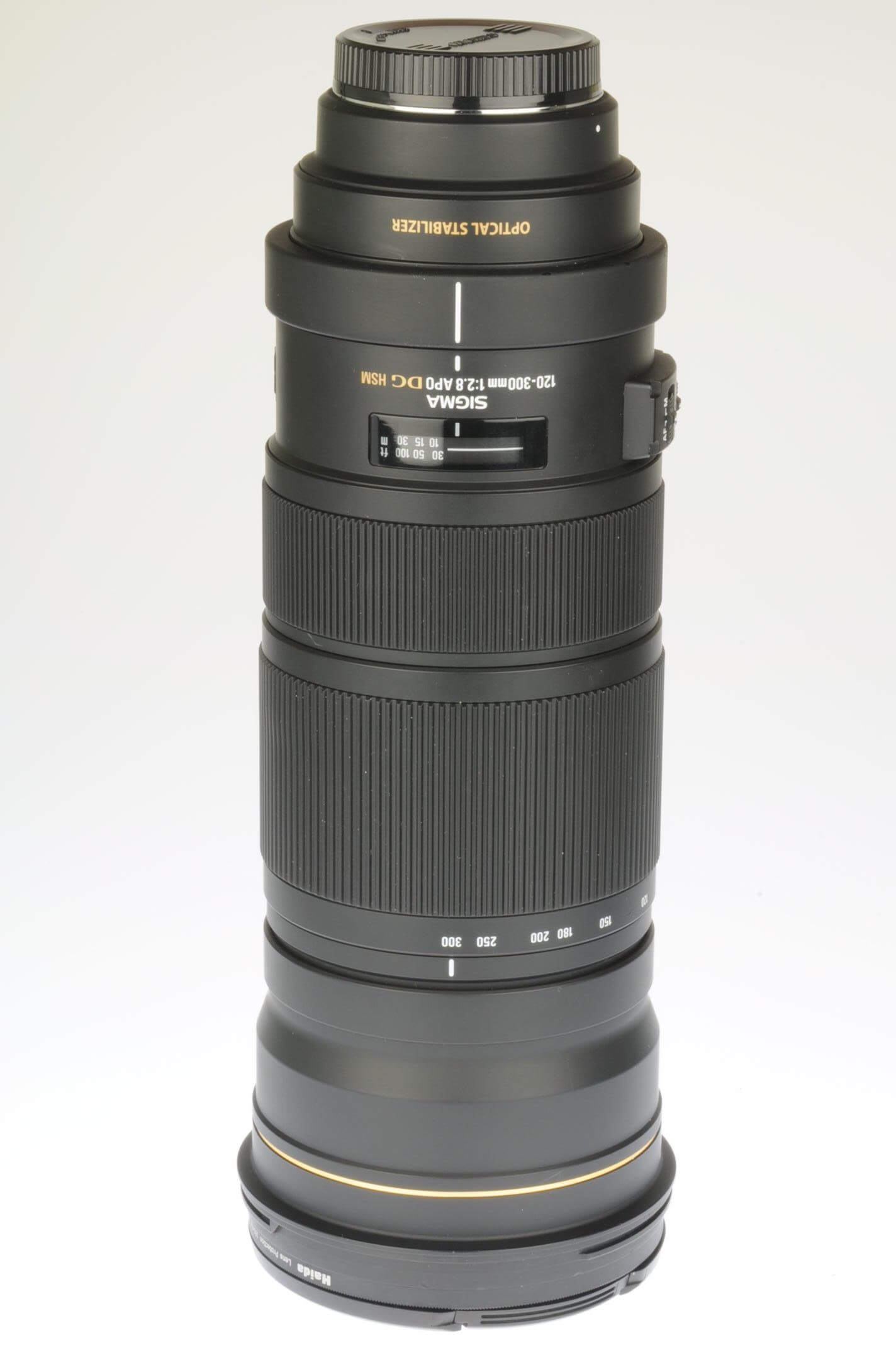 Sigma 120-300mm f2.8 APO DG HSM OS, Optical Stabilizer, Canon EOS fitting, case