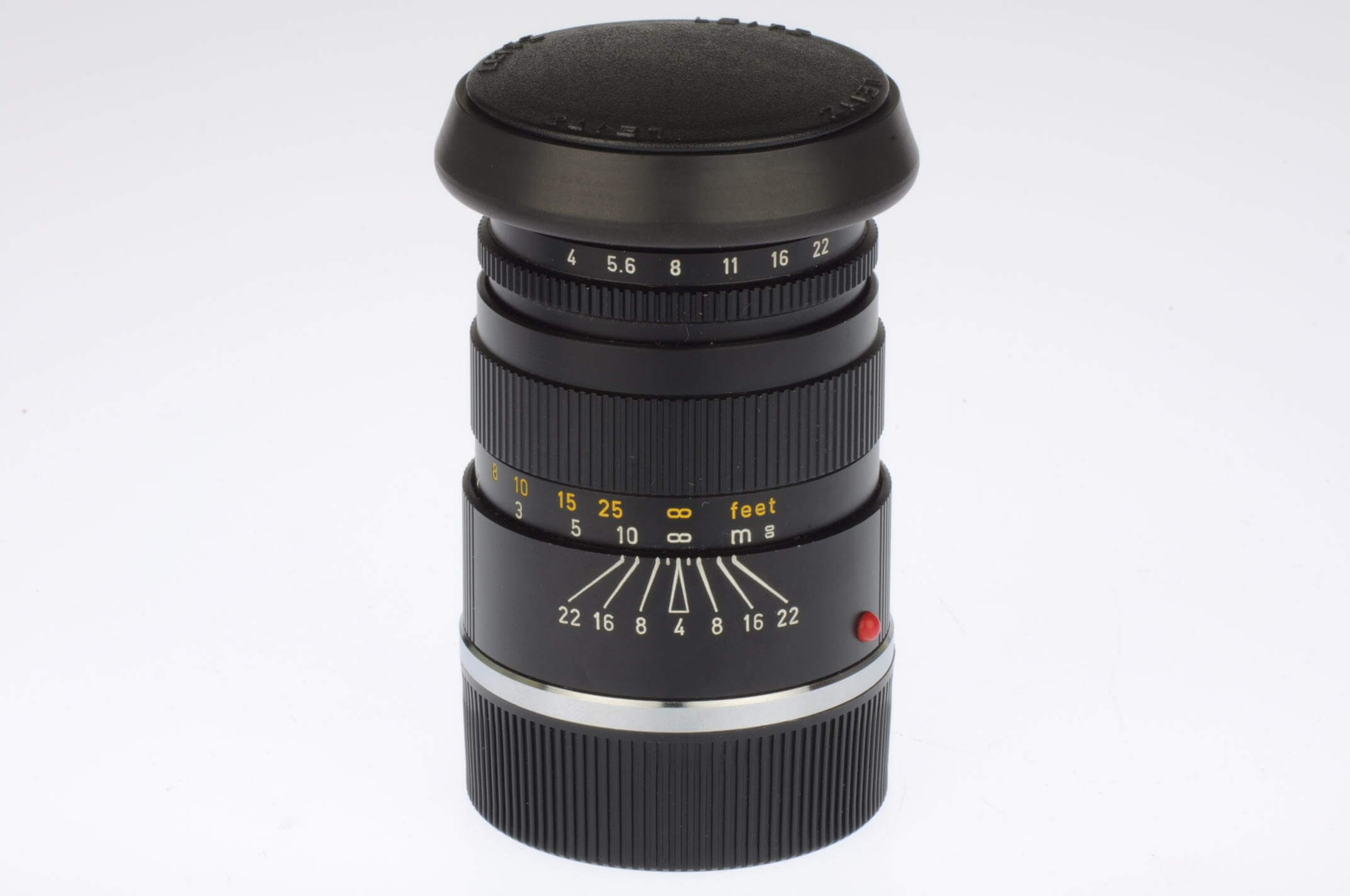 Leica 90mm f4 Elmar C, virtually mint, with correct hood and caps