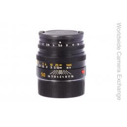 Leica 50mm f2 Summicron M, built-in hood, almost mint