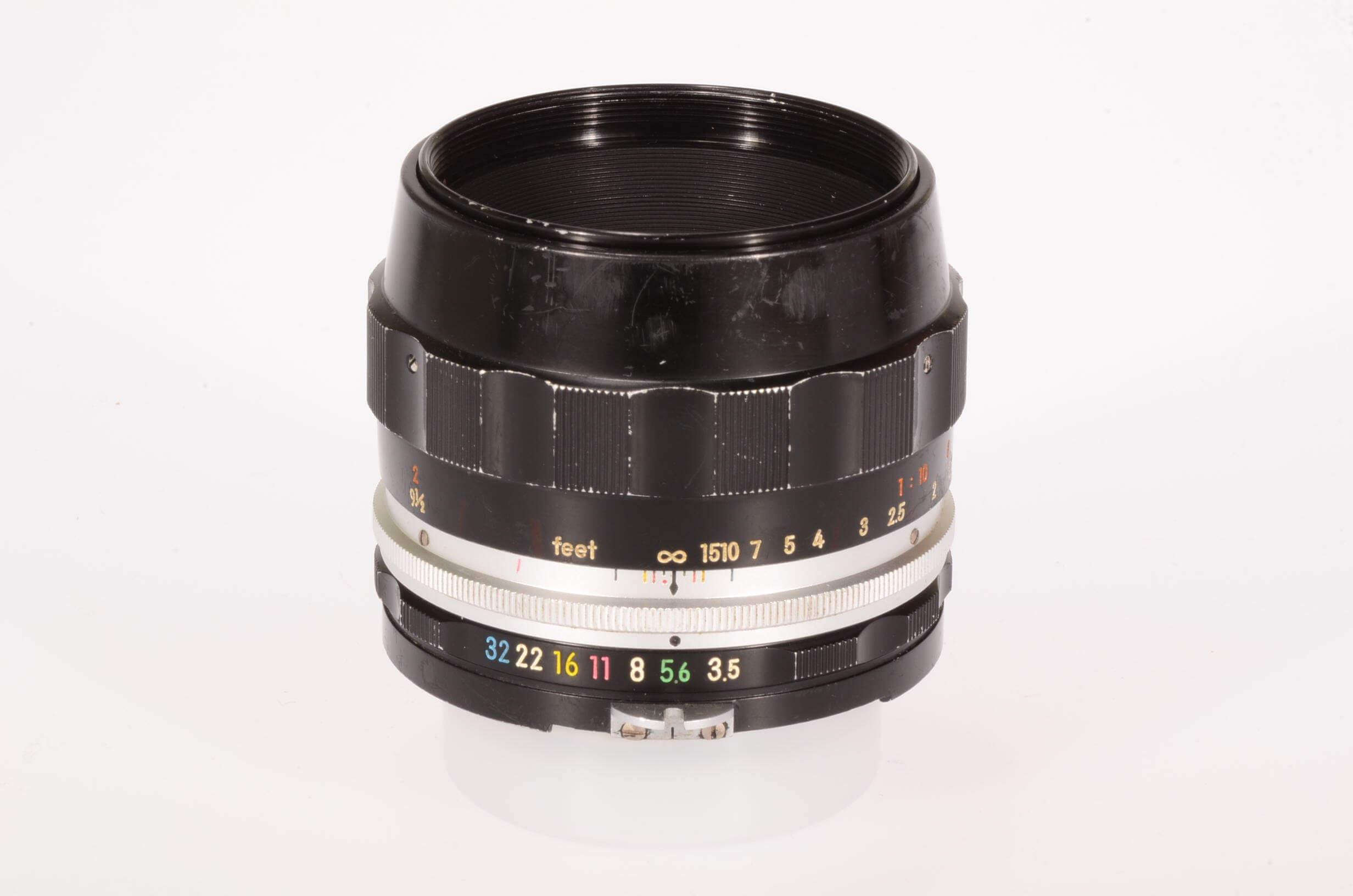 Nikon 55mm f3.5 Micro-Nikkor, pre-AI, serviced
