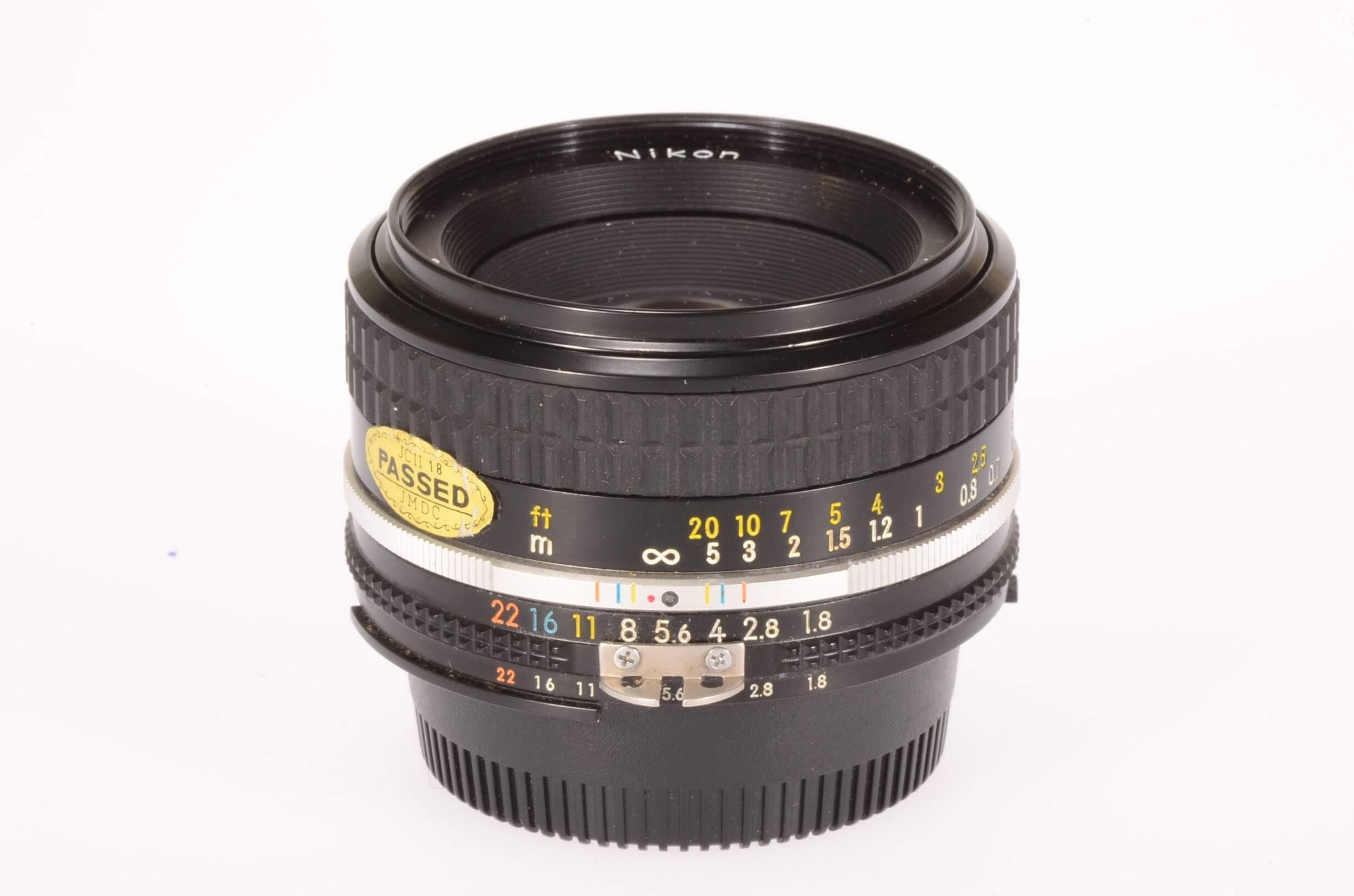 Nikon 50mm f1.8 AIS lens, serviced, almost mint