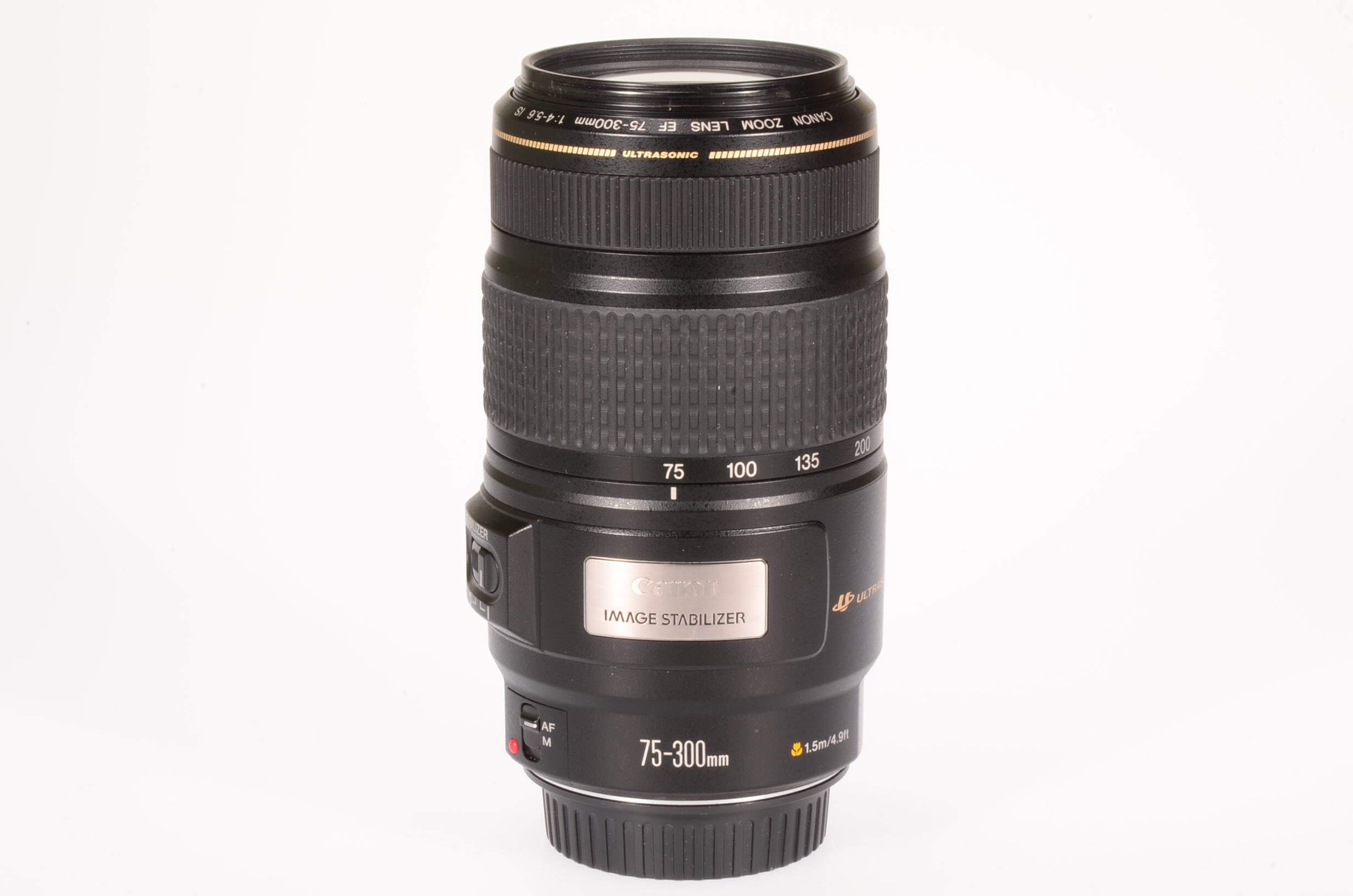 Canon 75-300 f4-5.6 USM IS, almost mint