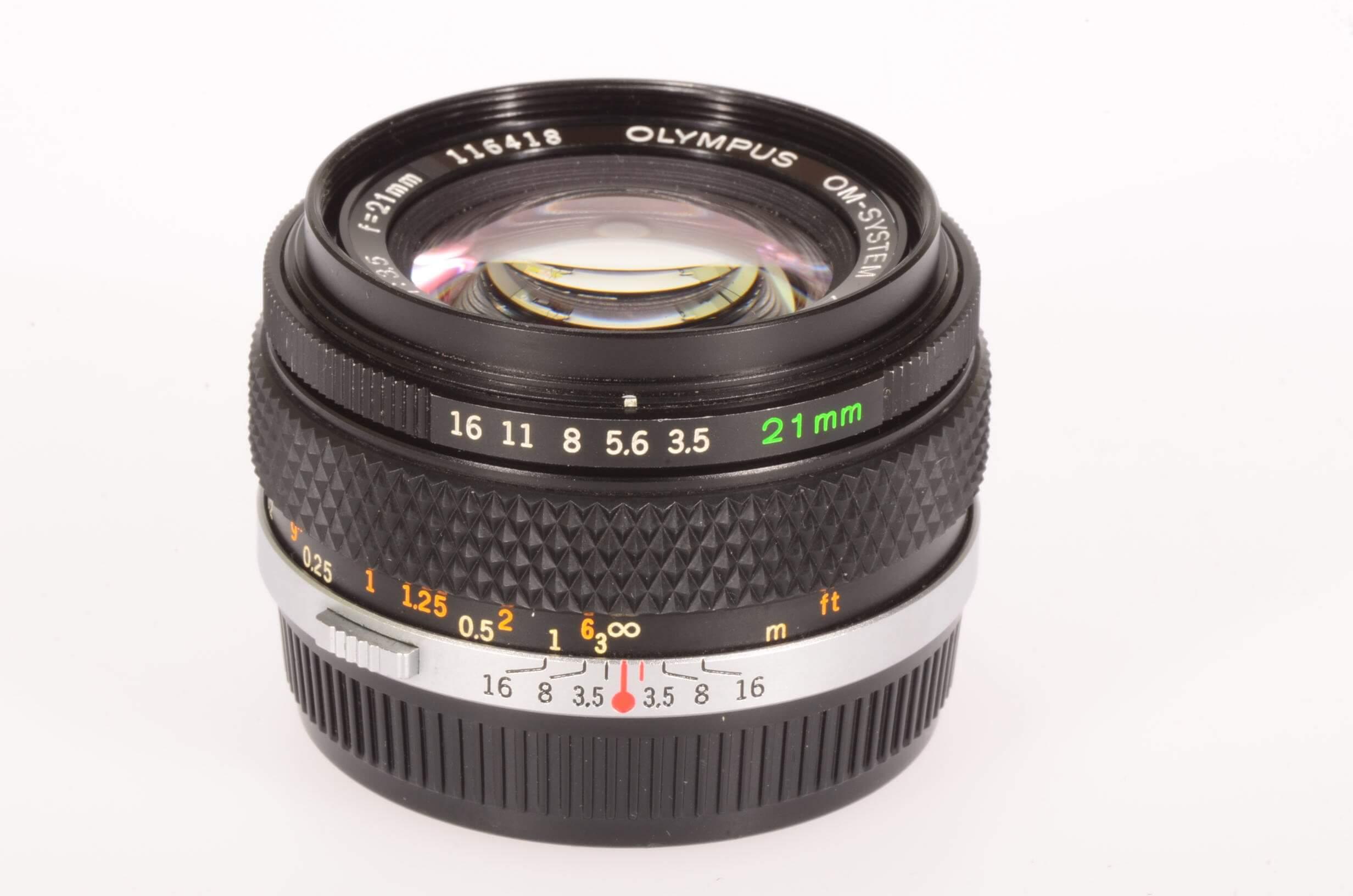 Olympus 21mm f3.5 Zuiko, virtually mint