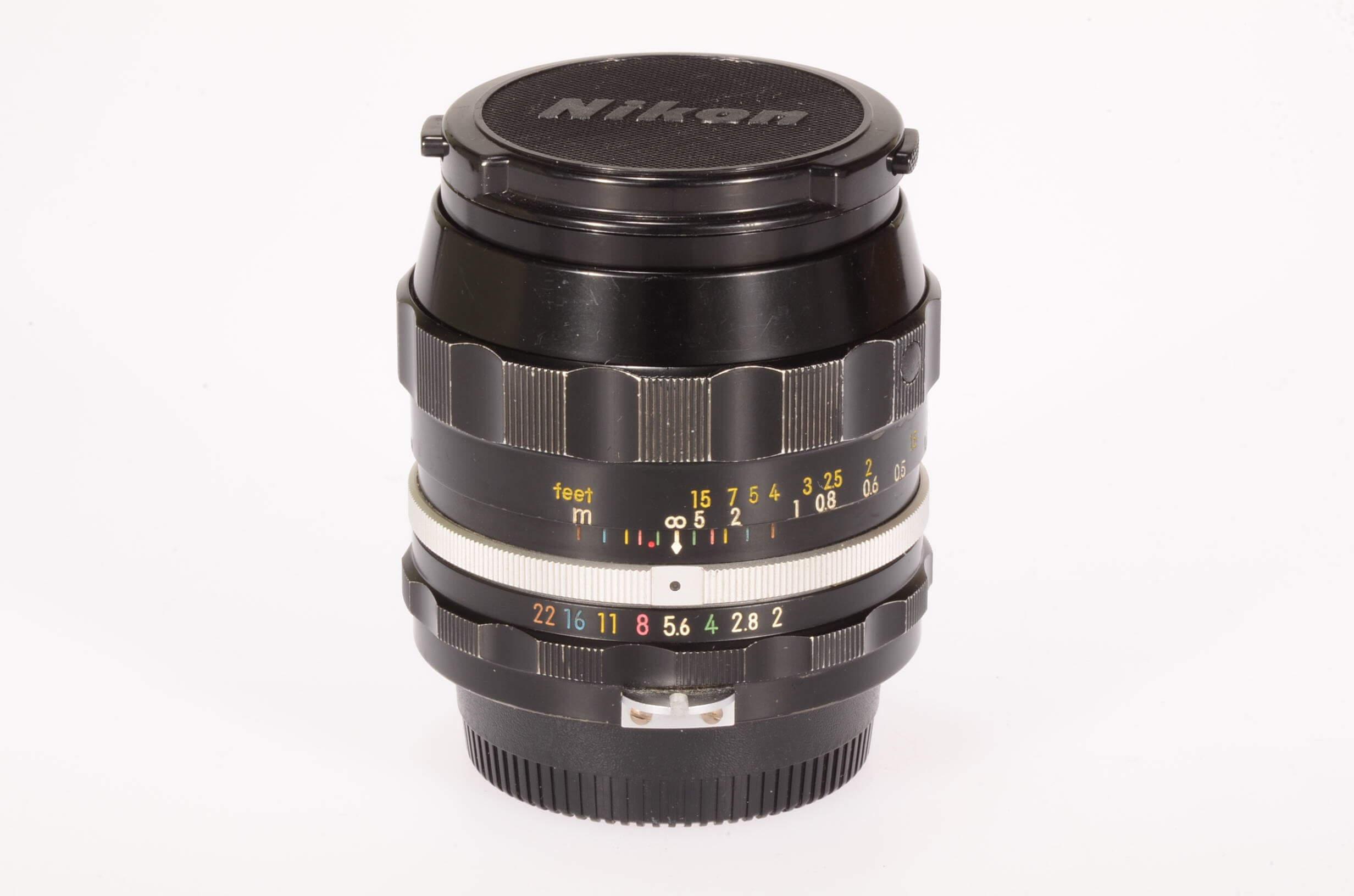 Nikon 28mm f2 Nikkor, pre AI, serviced