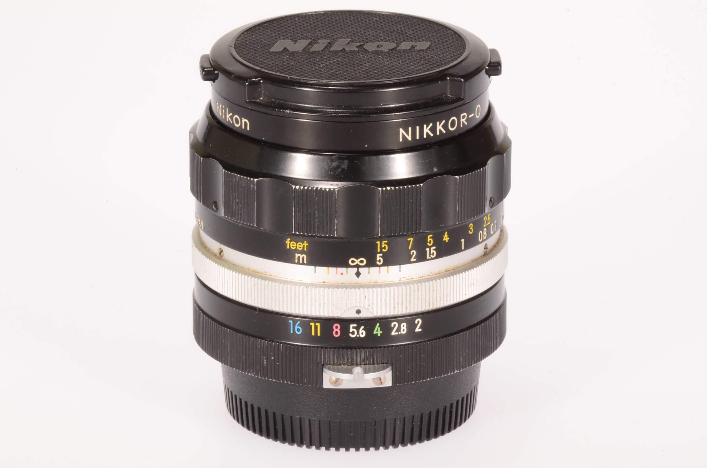Nikon 35mm f2 Nikkor, pre AI, serviced