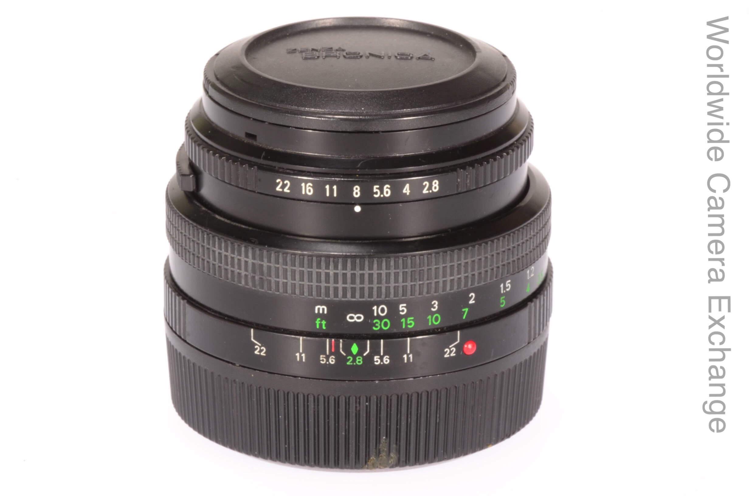 Bronica 50mm f2.8 Zenzanon PE lens