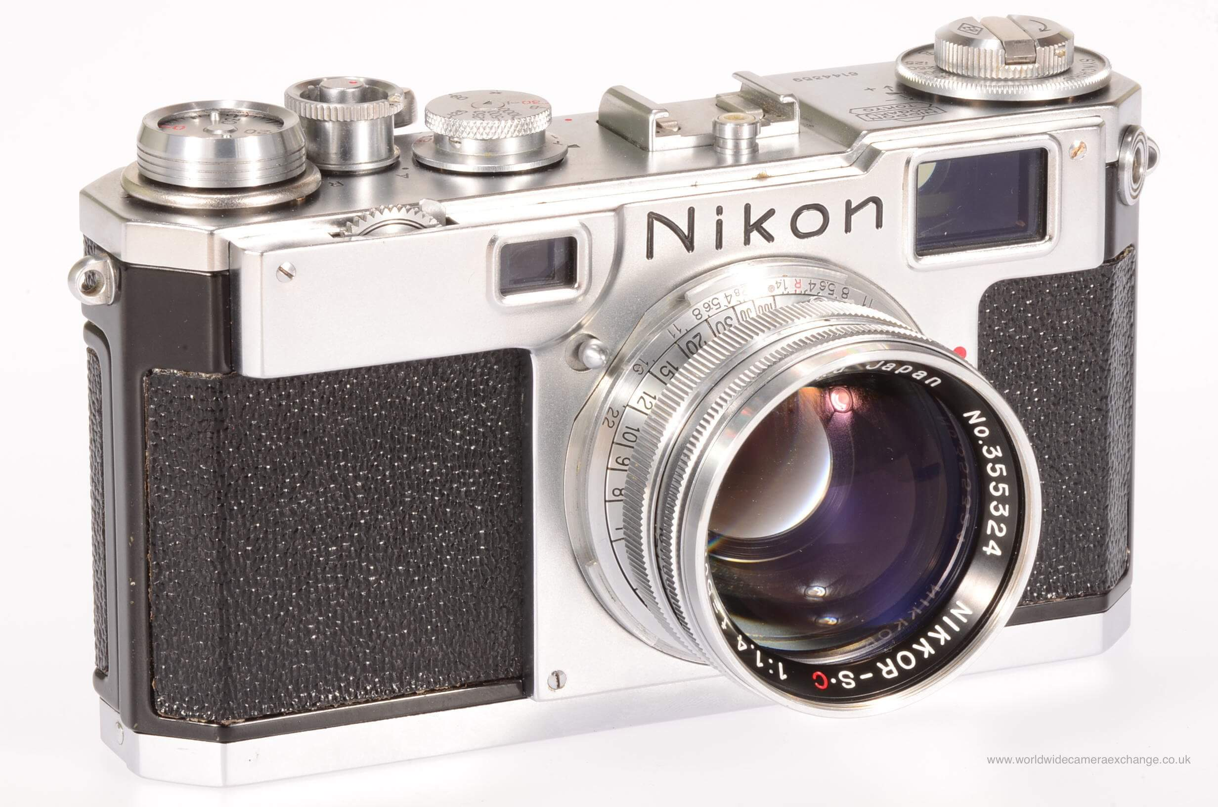 Nikon S2 with 5cm f1.4 Nikkor, rare! Fully serviced!